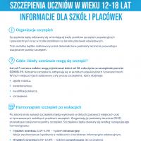 ZS Stanin - Szczepienia uczniów w wieku 12-18 lat