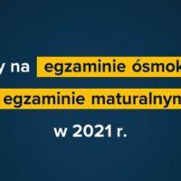 ZS Stanin - Zmiany na egzaminie ósmoklasisty w 2021 roku