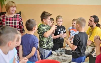 ZS Stanin - Zajęcia z garncarzem