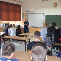ZS Stanin - Spotkanie z funkcjonariuszami z Wydziału ds. Nieletnich Komendy Powiatowej Policji w Łukowie